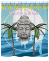 Vaporwave Buddha Shower Curtain