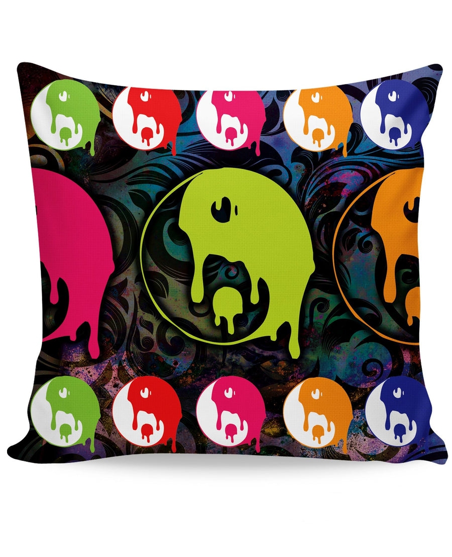 Drippy Yin Yang Couch Pillow