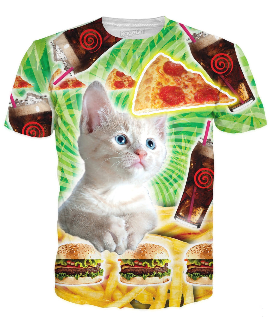 Fast Food Cat T-Shirt
