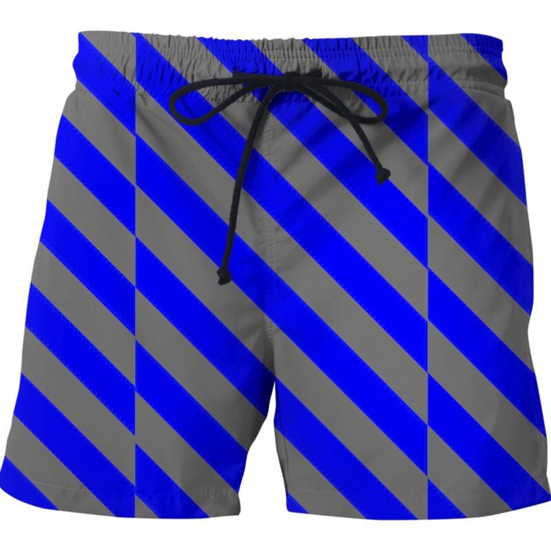 BigTexFunkadelic Caution In The Lines Swim Trunks