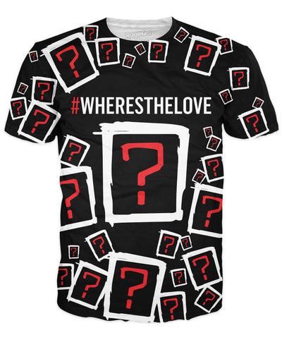 Where's the Love Collage T-Shirt