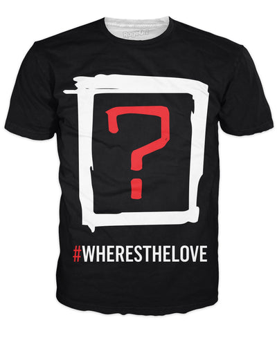 Black Eyed Peas Where's the Love v2 Double Sided T-Shirt