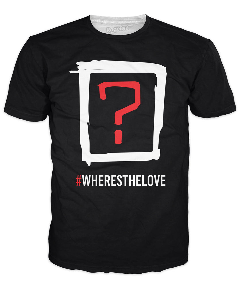 Black Eyed Peas Where's the Love Double Sided T-Shirt