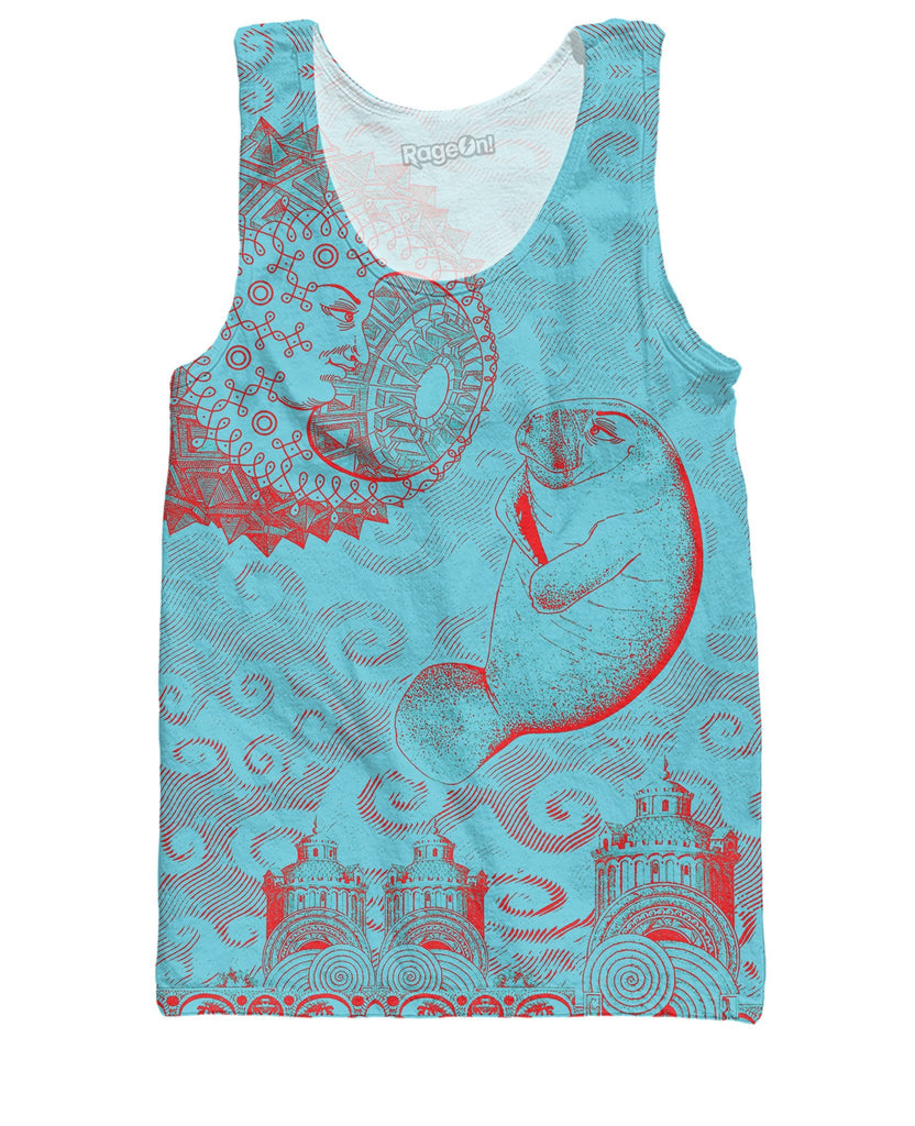 Moon and Manatee Tank Top