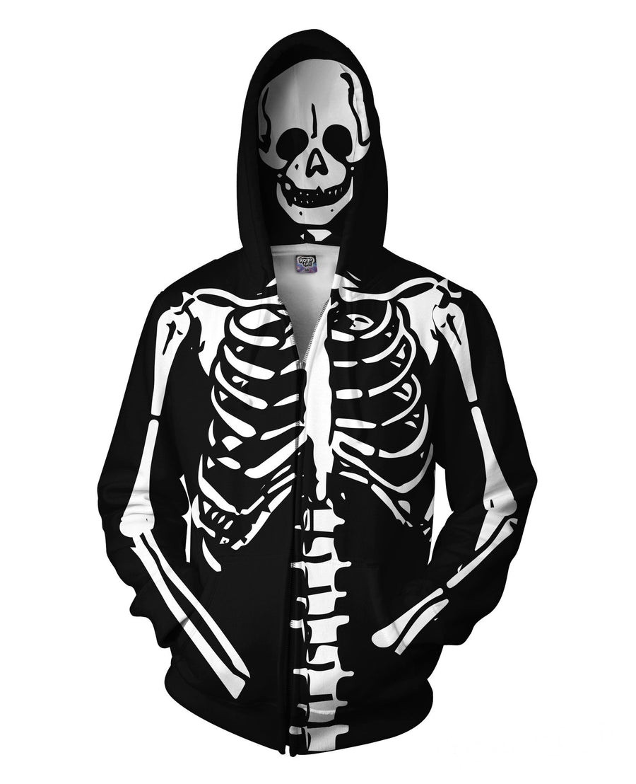 Skeleton Zip-Up Hoodie