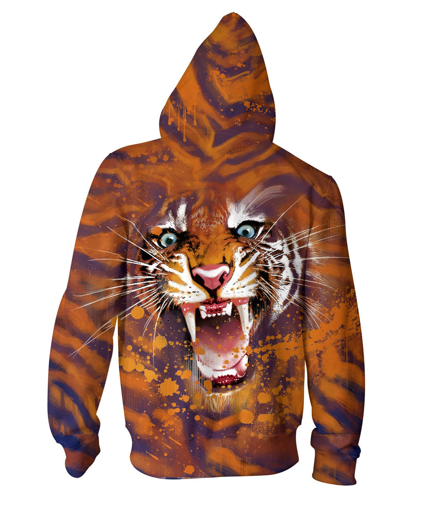 Tiger Strike Unique Double Sided Hoodie