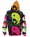 Drippy Yin Yang Zip-Up Hoodie