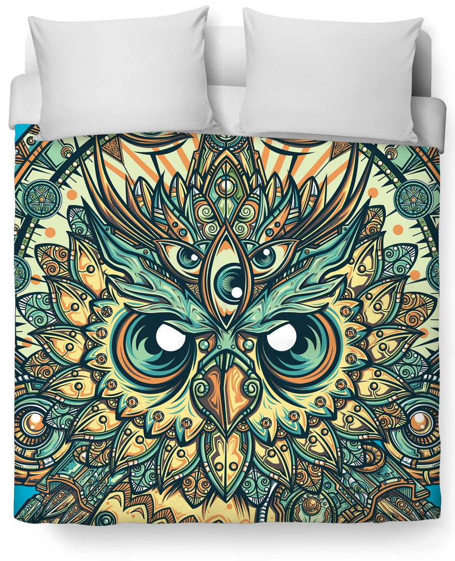 God Owl of Dreams Duvet Cover
