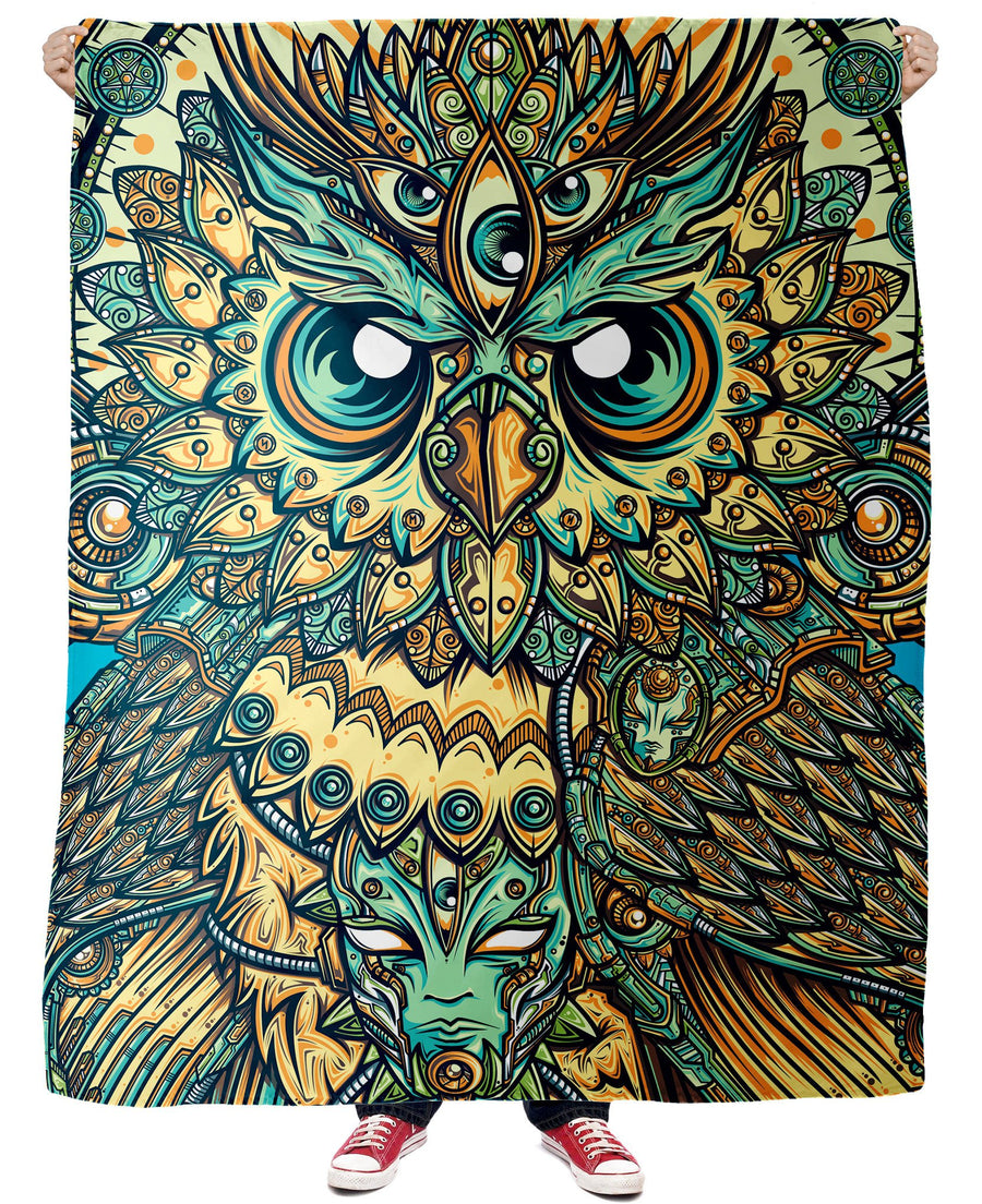 God Owl of Dreams Fleece Blanket