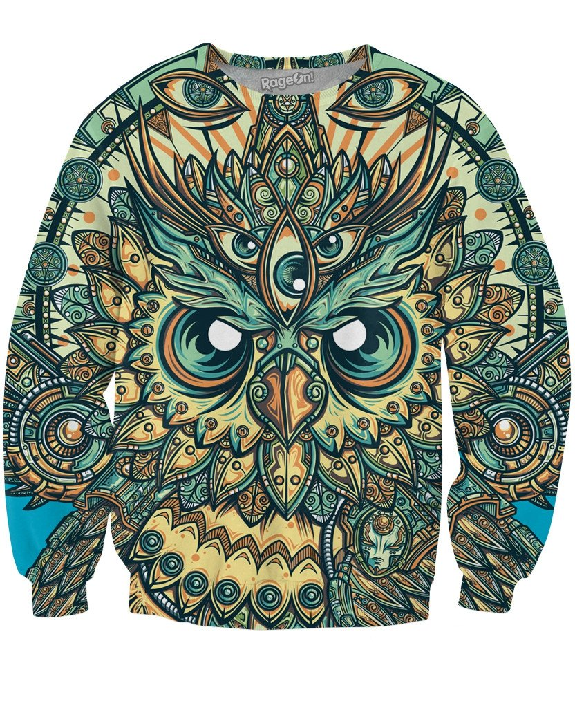 God Owl of Dreams Crewneck Sweatshirt
