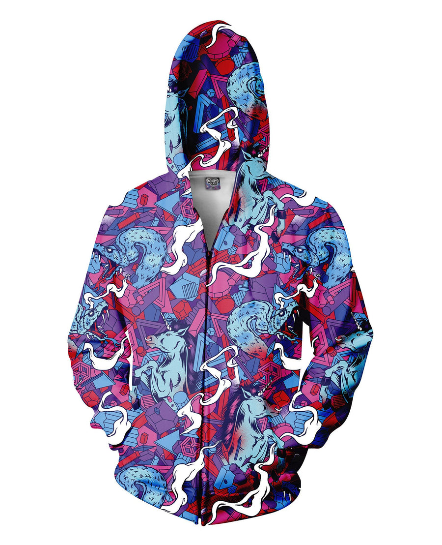 Polygon Charge Zip-Up Hoodie