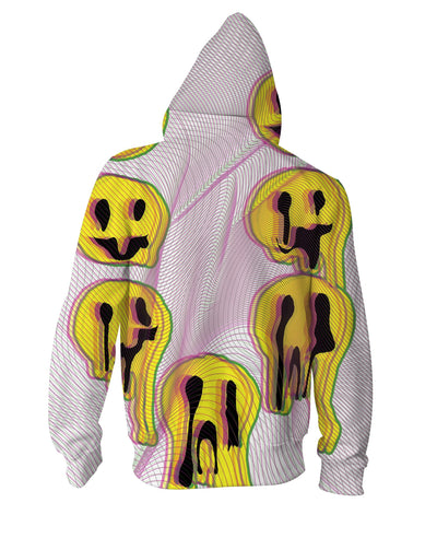 Wax Smile Zip-Up Hoodie