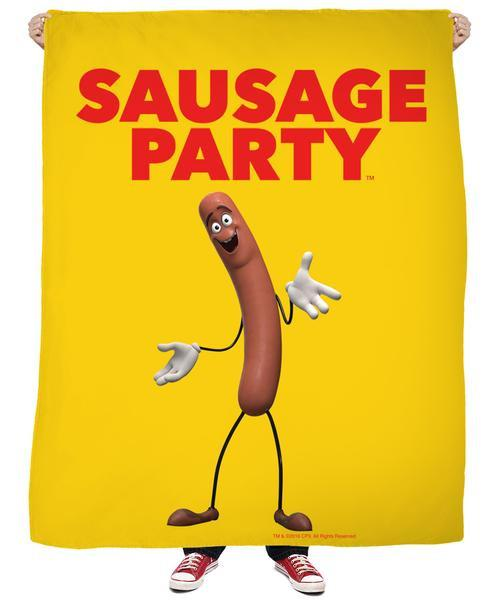 Sausage Party Frank Fleece Blanket