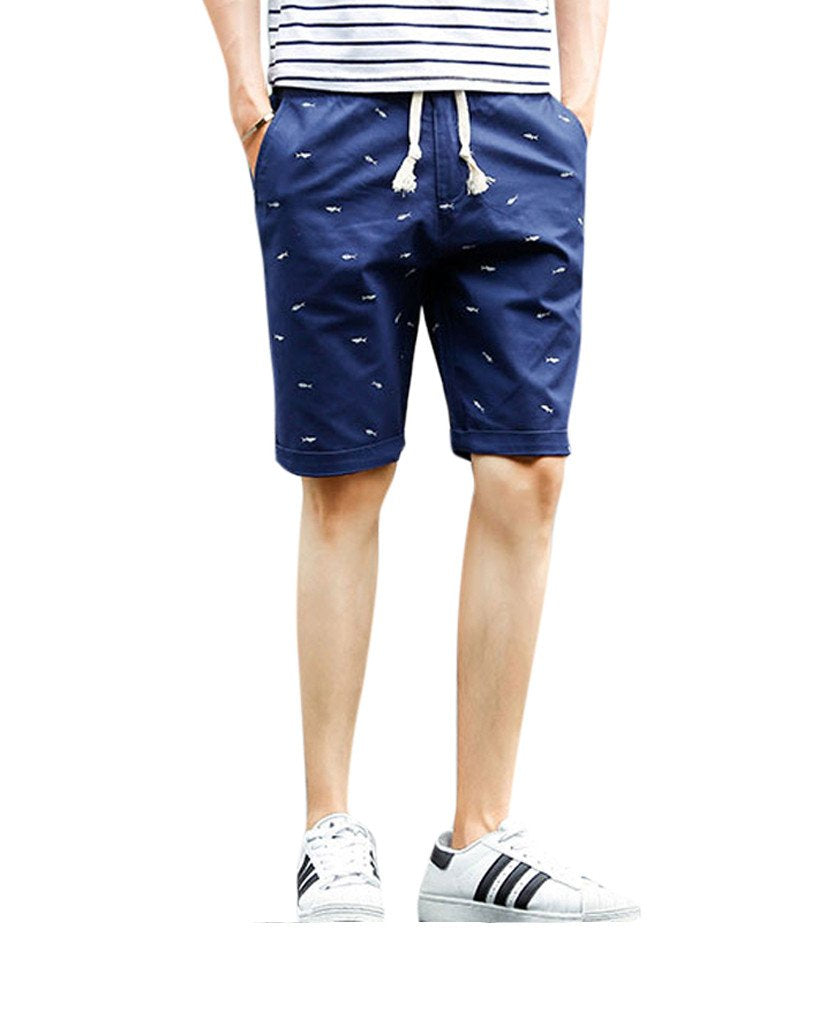 Fishbone Monogram Chino Shorts