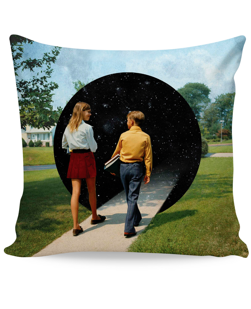 Into the Black Hole Couch Pillow
