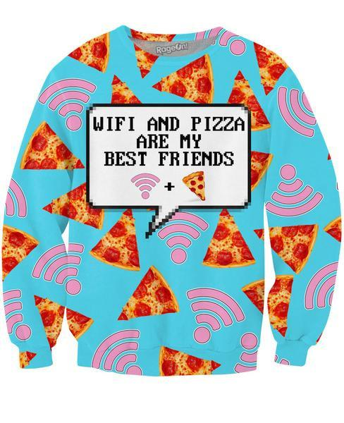 Wifi and Pizza Sweatshirt