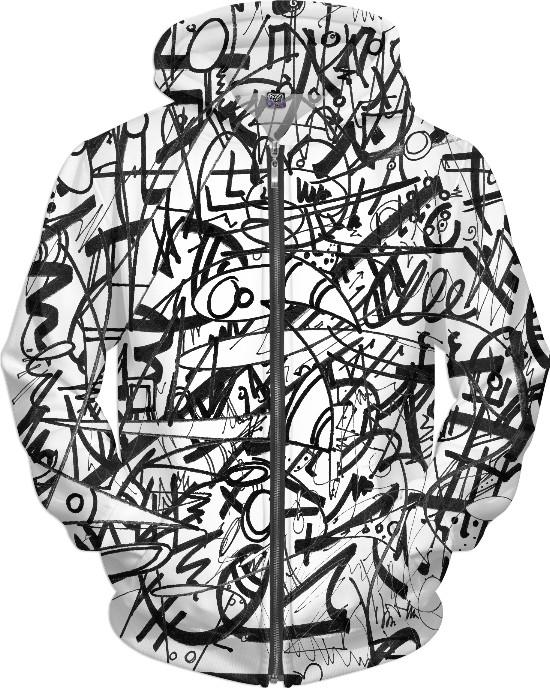 The Real Time Is Now (Black and White) Hoodie
