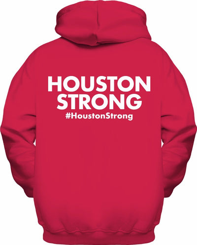 Houston Strong Red Zip-Up Hoodie