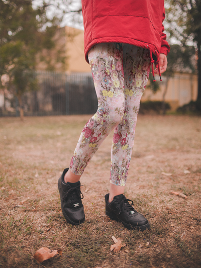 Summer Garden Coral Leggings