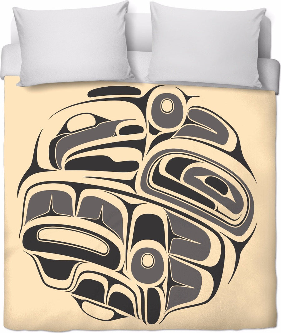 Ash on Sand Mosquito Drummer Duvet Cover