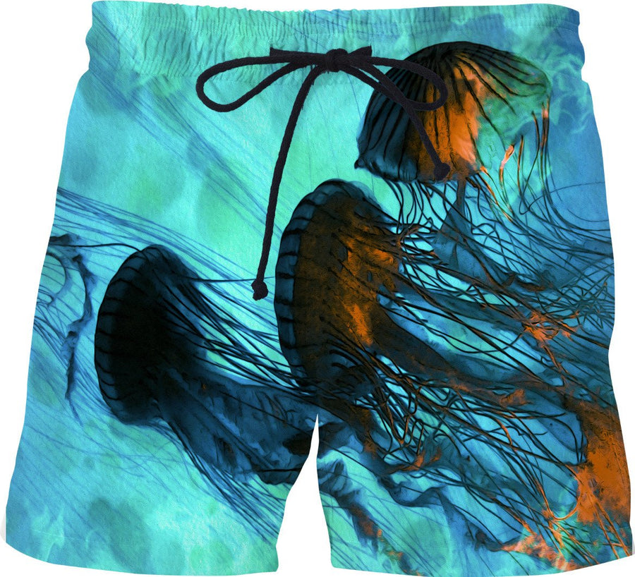 Jellyfish of the Under Sea  - Jelly Fish Swim Shorts - DistortionArt