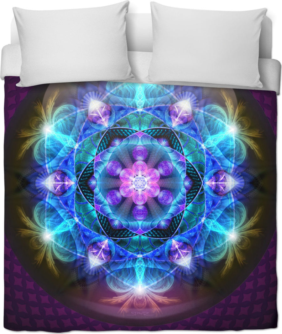 Radiant Energy Flower Duvet Cover