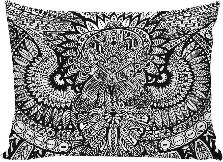 Inked Owl Line Art Pillowcase