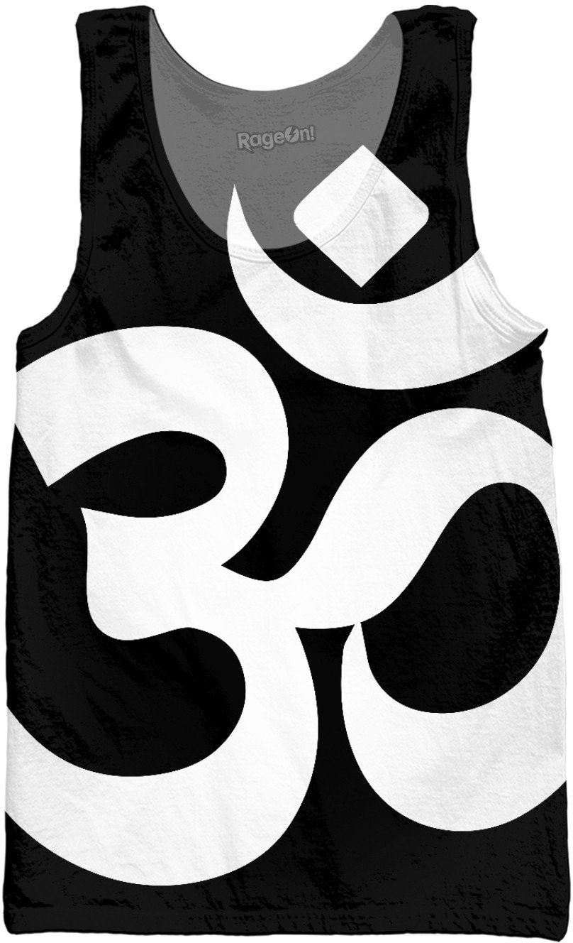 Big Om Black and White Tank Top