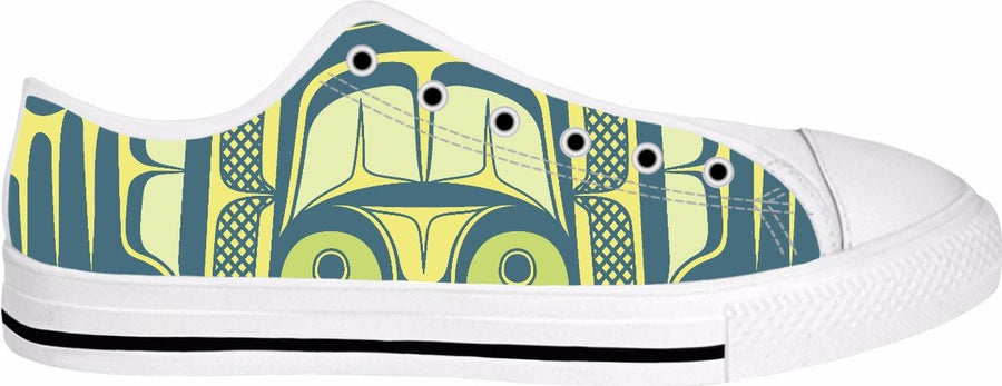 Two Eagle White Low Top (Green and Gold)