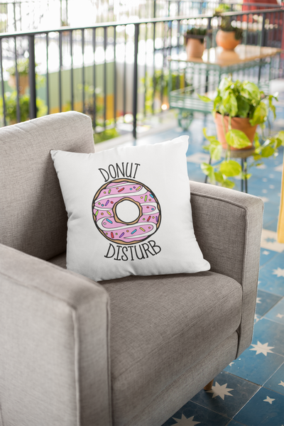 Donut Disturb Couch Pillow