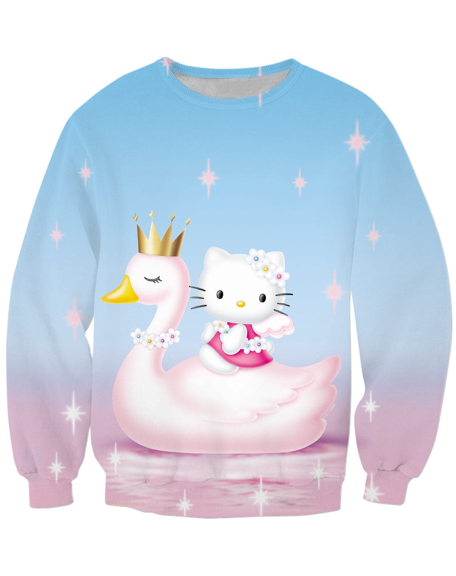 Hello Kitty Swan Princess Sweatshirt