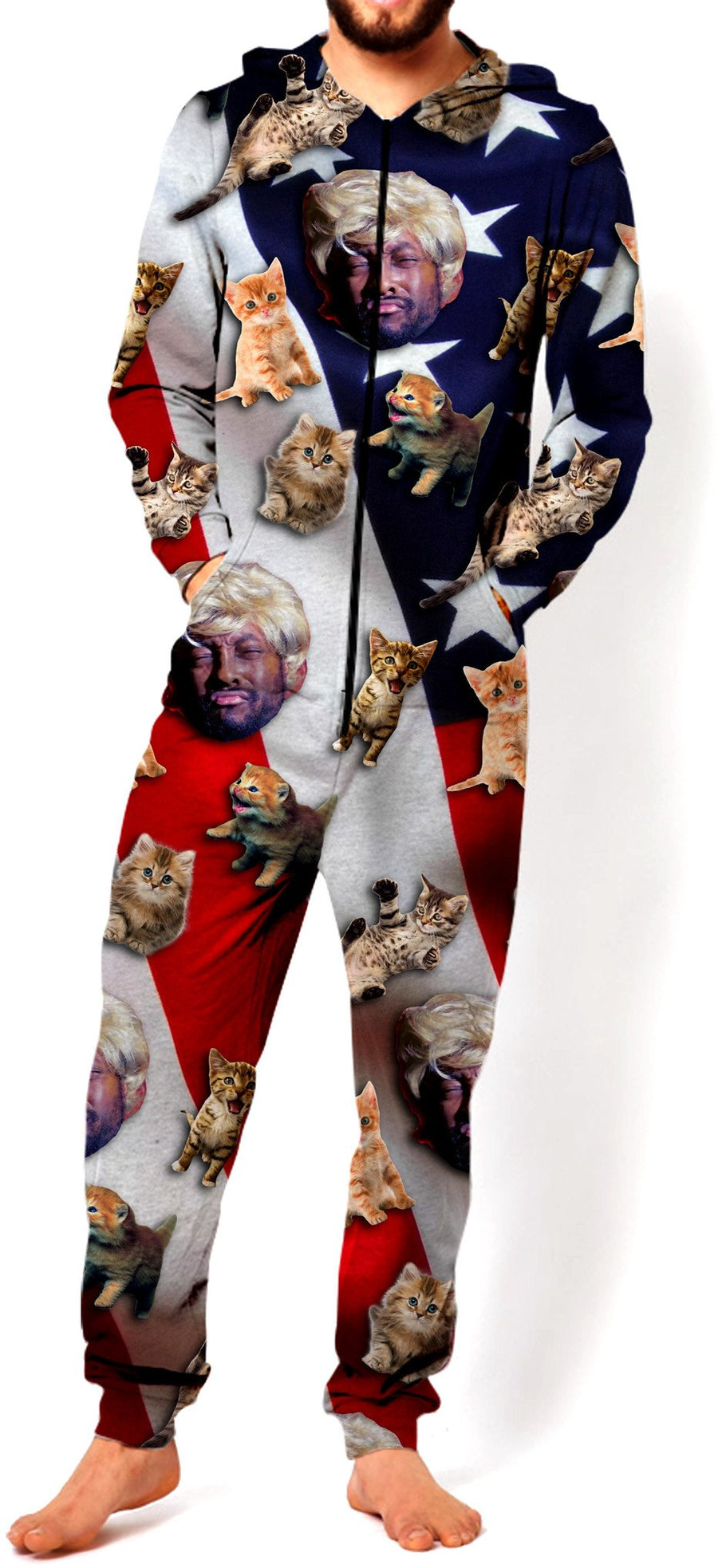 will.i.am Trump Pattern Onesie