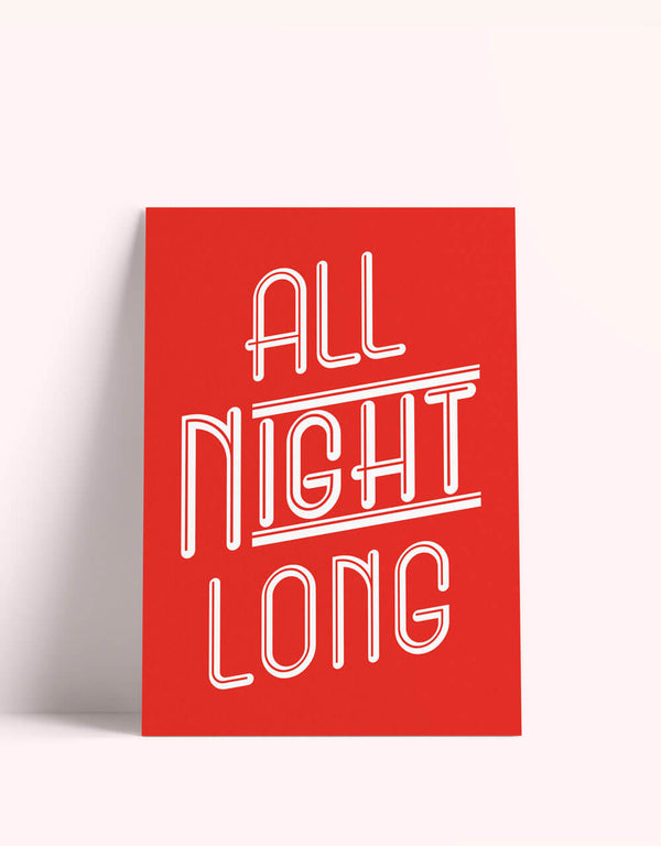 all night long card