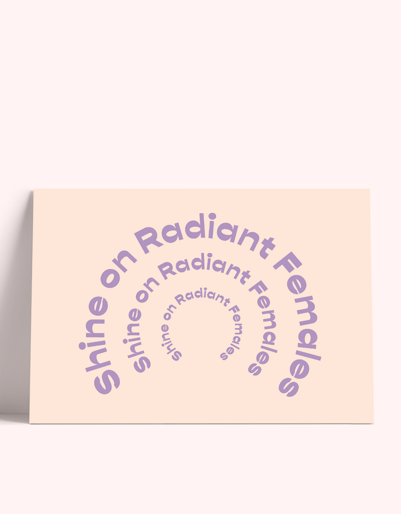 radiant females card set
