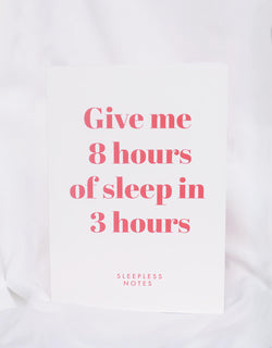 sleepless notes notebook