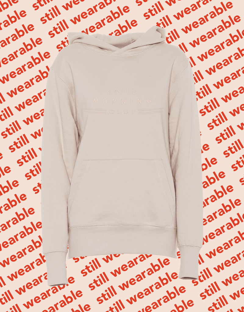 still wearable – early morning club hoodie