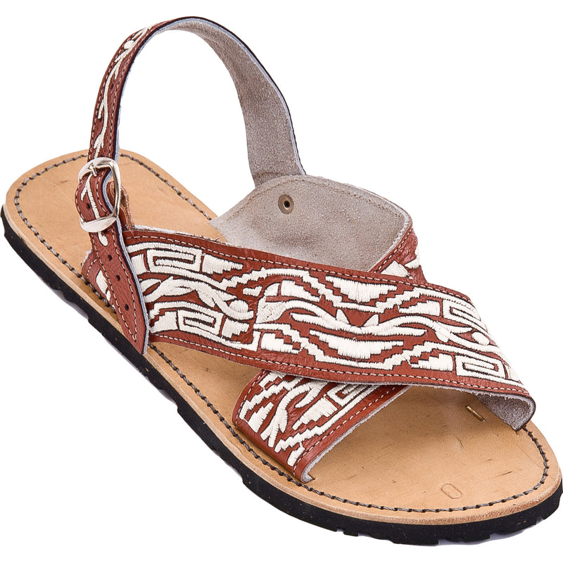 Crossed Leather Huarache - MExican Sandals