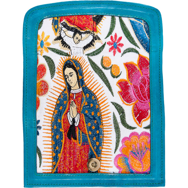 Virgin Mary Bordada Bolda de Mano - Virgin Mary Handbag
