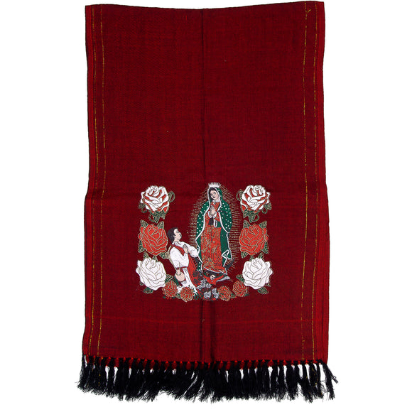 Rebozo Mexicano Virgen Maria imp-73421-red