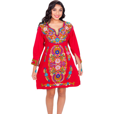 Short Embroidered Cotton Dress imp-77127