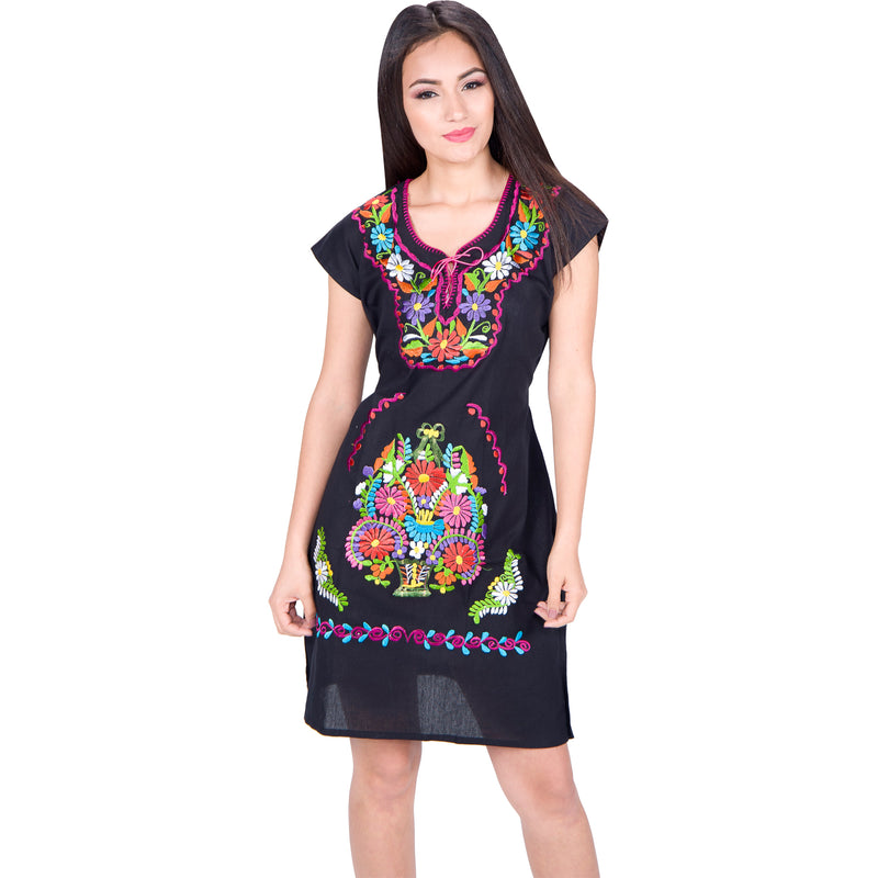 Vestido Tipico Mexicano Bordado - Artesanal - Mexican Dress