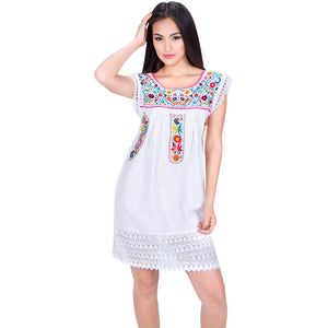 Embroidered Artisan Cotton Dress imp-77136