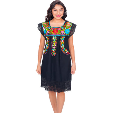 Embroidered Artisan Cotton Dress imp-77137