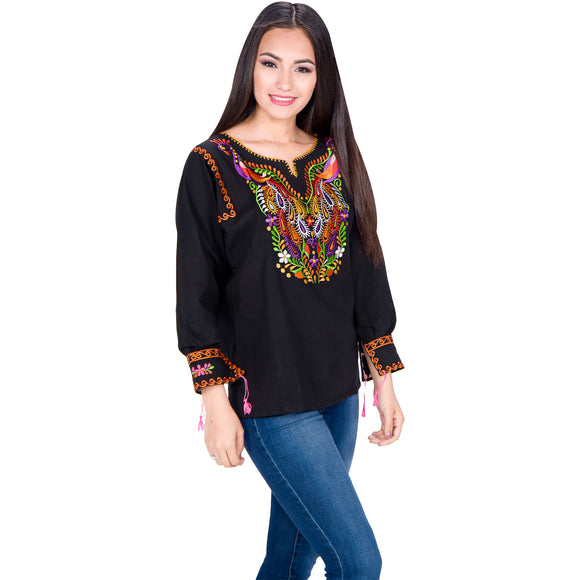 Embroidered Artisan Cotton Blouse imp-77172