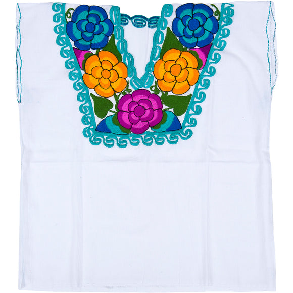 Embroidered Mexican Artisan Blouse imp-77202-White