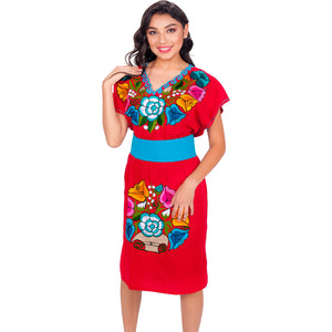 Embroidered Chiapas Style Dress imp-78012