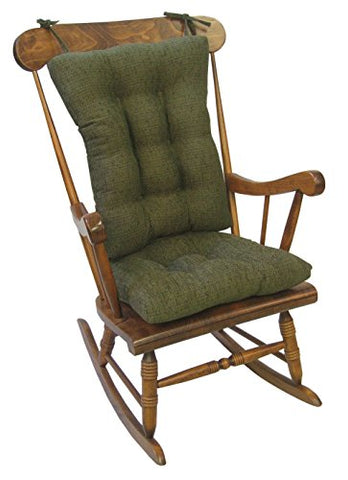 Klear Vu Tyson Xl Gripper Non-Slip Extra Large Overstuffed Rocking Chair Pad Set 17  X 17  Green