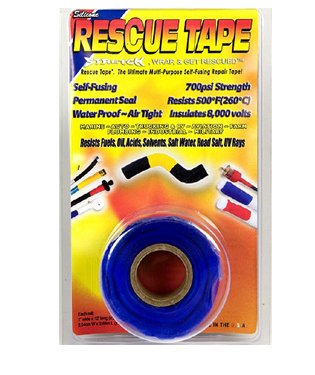 Rescue Tape Self-Fusing 700Psi Strength Multi-Purpose Repair, Scuba Tape, Boat Tape, Pipe Tape, Plumbers Tape, Electric Tape, Duck Tape, Waterproof Tape, Pipe Repair