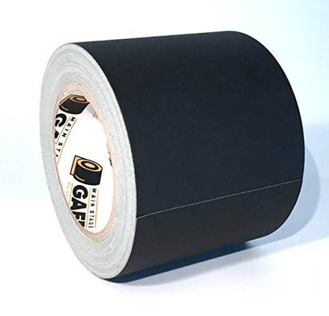 Gaffers Tape - 4 Inch By 30 Yards - Black - Main Stage Gaff Tape - Matte Finish - Easy To Tear By Hand