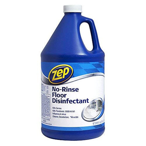 Zep No Rinse Disinfectant Floor Cleaner 128 Ounce Zunrs128